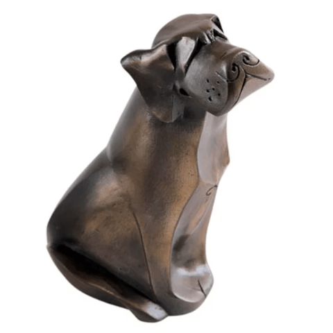 Smooth Labrador Cold Cast Bronze Sculpture